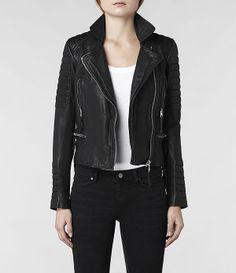 Damen Pitch Biker Jacket (Black) | ALLSAINTS.com