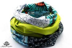 Loopschal Loop grün grau blau von #Lieblingsmanufaktur: Farbenfrohe Loops, Tücher und mehr