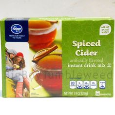 Kroger Spiced Cider instant hot drink beverage mix 10 ct box Holiday cinnamon