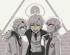 △ Reverse Falls - Gravity Falls - Fight Falls △ Will Cipher, Bill Cipher, and Kill Cipher - Bipper, Wipper, and Kipper Gravity Falls Bill Cipher, Gravity Falls Anime, Reverse Gravity Falls, Dipper Pines, Dipper And Bill, Dipper And Mabel, Billdip, Fall Anime, Monster Falls