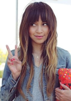 ombre with bangs. why not?