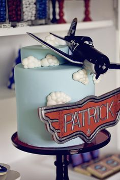 "Such a cute airplane cake! Disney ""Planes"" Inspired Birthday Party with So Many Darling Ideas via Kara's Party Ideas Disney Planes Cake, Disney Planes Birthday, Disney Cakes, Boy Birthday Parties, Birthday Ideas, 4th Birthday, Party Fiesta, Cakes For Boys, Party Cakes"