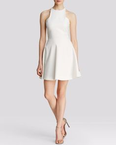 $365 Elizabeth and James White Fit & Flare Racerback Clarissa Dress 4 NWT E411 #ElizabethandJames #FitFlare #Cocktail