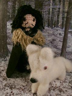 Jon Snow and Ghost (Game of thrones) amigurumi- Moñacos, cosicas y meriendacenas