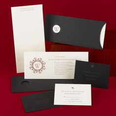 pocket wedding invitation with monogram | ... pocket wedding invitations, monogrammed pocket wedding invitations