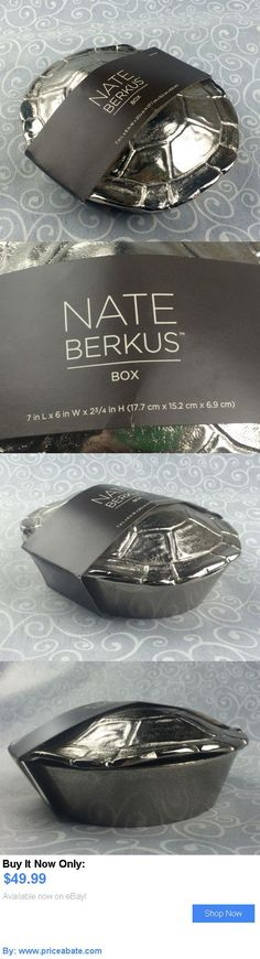 Home Decor: New Nate Berkus Decorative Turtle Shell Lid Box Silvertone Tortoise Metal BUY IT NOW ONLY: $49.99 #priceabateHomeDecor OR #priceabate