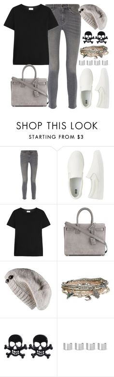 """""""The Weekend"""" by joslynaurora ❤ liked on Polyvore featuring MiH Jeans, Uniqlo, Yves Saint Laurent, Laundromat, Aéropostale, Maison Margiela, women's clothing, women, female and woman"""