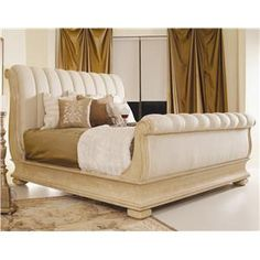 Century Caravelle King Upholstered Sleigh Bed at Design Interiors