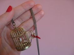 Bird in a Guilded Cage Necklace.