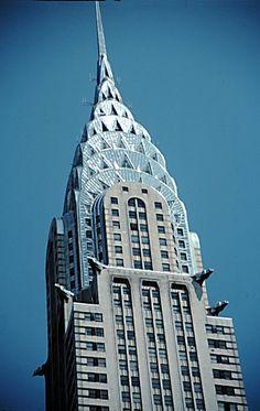 Famous example of Art Deco architecture. Chrysler Building, built 1929-30.
