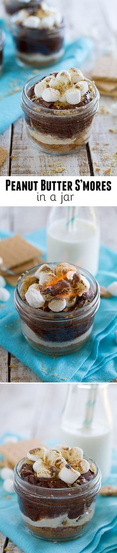 Peanut Butter S'mores in a Jar