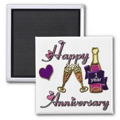 1st. Anniversary Fridge Magnets