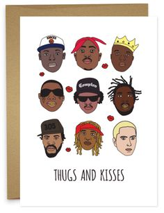 Hugs are kisses are nice but so are thugs and kisses. From Young Thug to 2 pac, Biggie to Bobby Shmurda we've covered the generations.
