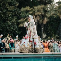 Trending Bridal Entry Ideas 2019 For Every Trendsetter Bride-To-Be! Wedding Film, Wedding Story, Bridal Photography, Film Photography, Bride Entry, Bridal Poses, Wedding Flower Decorations, Asian Bride, Bride Look