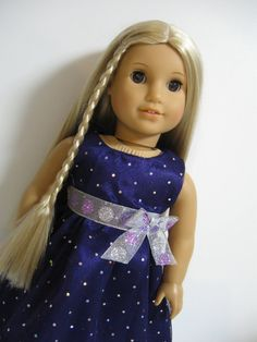 American Girl Doll  Party Girls Purple by 123MULBERRYSTREET, $24.00