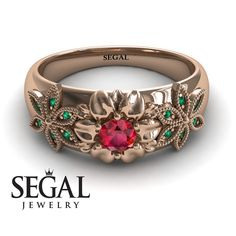 Victorian Engagement Ring Rose Gold Flower Ring Unique Engagement Ring Red Ruby Ring Designer Ring V Victorian Engagement Rings, Unique Diamond Engagement Rings, Beautiful Engagement Rings, Designer Engagement Rings, Unique Rings, Victorian Ring, Beautiful Rings, Stylish Rings, Oval Engagement