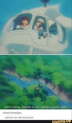 Pokemon was kinda dark Pokemon Mew, Pikachu, Pokemon Comics, Pokemon Funny, Pokemon Stuff, Stupid Funny Memes, Funny Relatable Memes, Hilarious, Funny Stuff