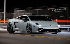 壁紙をダウンロードする Velos車輪, チューニング, Lamborghini Gallardo, ウ, Velos S1, ランボルギーニ