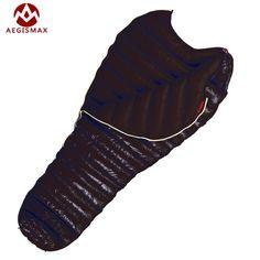 AEGISMAX-M2 Ultralight Mummy Type Adult Sleeping Bags Outdoor Camping Winter Sleep Bag White Goose Down Filling 380g/420g 800FR