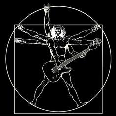 Znalezione obrazy dla zapytania vitruvian man guitar