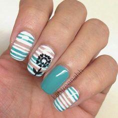 Sweet flower nailart #Nails #Nailart #flower