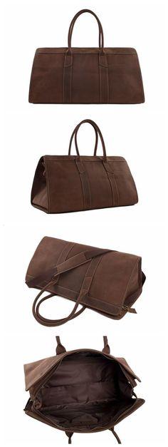 22'' Handmade Large Leather Travel Bag Duffle Bag Weekender Bag Holdall
