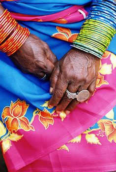 Some of the tribal women in Orissa use a Rupee coin as their main ring! Photo taken in Orissa, India We Are The World, People Of The World, Namaste, Rainbow Colors, Vibrant Colors, Pastel Colours, Culture Art, Indian Colours, Ethno Style