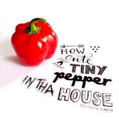 How cute, a tiny pepper in tha house!! #lettering #typography #handlettering #paperfuel