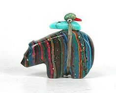 Native American Zuni Bear fetish carved of Rainbow Calsilica. How beautiful is this! Native American Wisdom, Native American Artwork, Native American Beauty, Native American Artifacts, American Spirit, American Indian Art, Native American Jewelry, Native American Indians, American Symbols