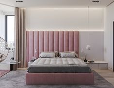 35 Amazingly Pretty Shabby Chic Bedroom Design and Decor Ideas - The Trending House Kids Bedroom Furniture, Bedroom Decor, 50s Bedroom, Master Bedroom, Furniture Design, Bedroom Wall, Luxury Furniture, Modern Furniture, Upholstered Wall Panels