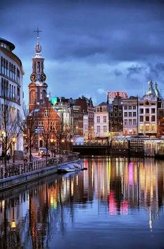 Night in Amsterdam, Holland One of my favorite cities in the world. Love Amsterdam and Holland. Places Around The World, The Places Youll Go, Travel Around The World, Places To See, Netherlands Tourism, Amsterdam Netherlands, Leiden Netherlands, Holland Netherlands, Wonderful Places