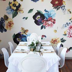 vintage floral wall decals urban walls - 1000×1000