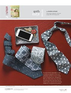 Pattern: Goth Ties - Media - Sew Daily