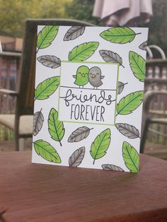 Lawn Fawn/Simon Says Stamp - Feathered Friends _ super cute card by Monica via Flickr - Photo Sharing!