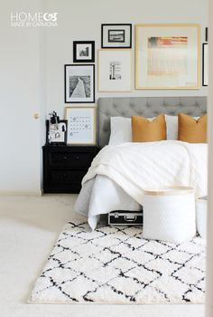 Chic Master Bedroom Makeover. Amazing before and after!!