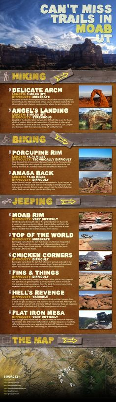 I've done every single one of these. Except Angel's Landing is in Zion, not Moab. This has been a long, cold winter. I can't wait to get back down to Moab, my happy place!