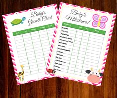 Free Printable Growth and Milestone Chart   We celebrated our 6th baby's first birthday recently. Wow, how time flies! I can't believe she