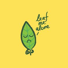 Poster | THE INTROVERT LEAF von Budi Kwan | more posters at http://moreposter.de