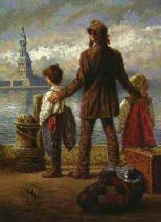 A Jim Daly print called The Immigrant.