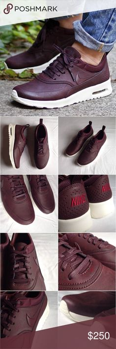 Nike Air Max Thea Premium Leather Mahogany Sneaker Brand: Nike Style: Air Max Thea Premium  Size: US 9 Color: Mahogany