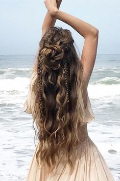 35 Boho Inspired Unique And Creative Wedding Hairstyle – My Stylish Zoo - - oldpic.site - 35 Boho Inspired Unique And Creative Wedding Hairstyle – My Stylish Zoo - 35 Boho Inspired Unique And Creative Wedding Hairstyle – My Stylish Zoo - Wedding Hair Down, Wedding Hairstyles For Long Hair, Cute Hairstyles, Bohemian Hairstyles, Hairstyle Ideas, Hippie Wedding Hair, Stylish Hairstyles, Office Hairstyles, Anime Hairstyles