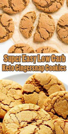 Super Easy Low Carb Keto Gingersnap Cookies - Tips Low Carb Desserts, Low Carb Recipes, Cookie Recipes, Dessert Recipes, Cookie Ideas, Ginger Snap Cookies, Keto Cookies, Low Sugar Cookies, Candy Cookies