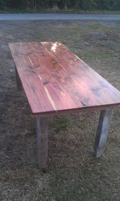 RECLAIMED CEDAR TABLE. $595.00, via Etsy.