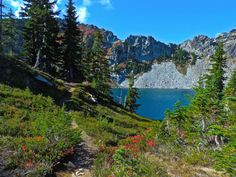 Minotaur Lake, Central Cascades - Just east of Steven's Pass you can take a trail out to this area that features a photogenic lake, as well as meadows filled with wildflowers early in the season and huckleberries late in the season.
