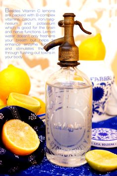 lemon water for good digestion and mood :) Vitamin B Complex, Vitamin C, Nerves Function, Lemon Water, Good Things, Mood