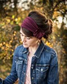 Garnet Rosette Headwrap - Garlands of Grace Headcoverings Headband Headwrap Vintage Headbands, Handmade Headbands, Headband Styles, Diy Headband, Autumn Rose, Scarf Hairstyles, Easy Wear, Rosettes, Head Wraps