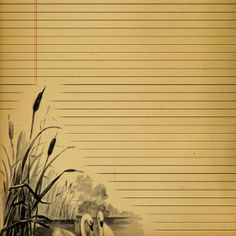 Printable Lined Vintage Journal Pages: make your own stationery quickly and easily with this free printable.