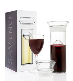 Have one glass, with out the bottle going bad with this Wine Preserving Carafe