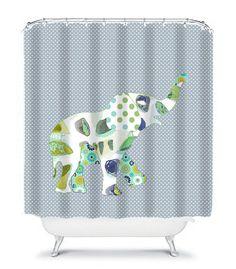 Elephant Shower Curtain Kids Bathroom Set With Bath Mat Towels De