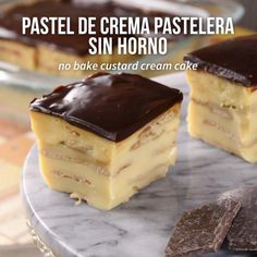 Video de Pastel de Crema Pastelera sin Horno If you want to make a cake without an oven, this recipe Sweet Desserts, No Bake Desserts, Sweet Recipes, Delicious Desserts, Dessert Recipes, Yummy Food, Savoury Cake, Cheesecake Recipes, Diy Food